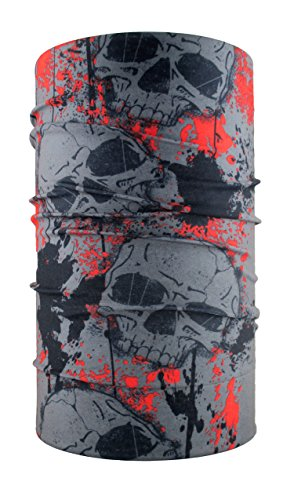 headloop teschio Bandana multifunzione sciarpa foulard testa panno in microfibra