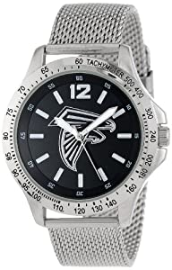 Game Time Mens NFL-CAG-ATL Cage NFL Series Atlanta Falcons 3-Hand Analog Watch by Game Time