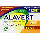 Alavert Quick Dissolving Tablets, Citrus Burst, 60 Count