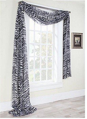 1 x 1kidandaheadache 39 s beautiful elegant voile sheer for Animal print window treatments