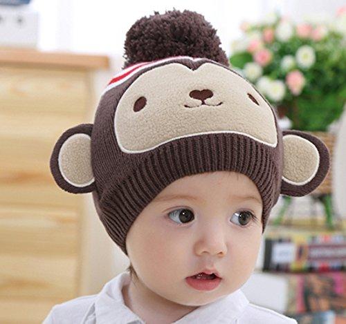 おさるニット帽 ベビー 赤ちゃん 猿 着ぐるみ 写真 撮影 干支 2016 年賀状に