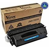V4INK ® New Compatible Black Q7553X 53X High Yield Toner Cartridge for Q7553X Q7553A Q5949 LaserJet P2010 P2014 P2015 P2015d P2015dn P2015n P2015x M2727MFP M2727nfMFP, 7000 Page Yield