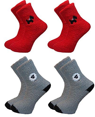 bon-marche-4-chaussettes-pour-dames-polaire-chien-et-mouton