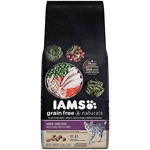 Iams Grain Free Naturals Chicken + Turkey Recipe Dry Cat Food