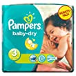 Pampers - Baby Dry - Couches Taille 3 Midi (4-9 kg) - Pack �conomique 1 mois de consommation x198 couches