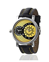Yepme Men's Dual Movement Watch - Yellow/Black