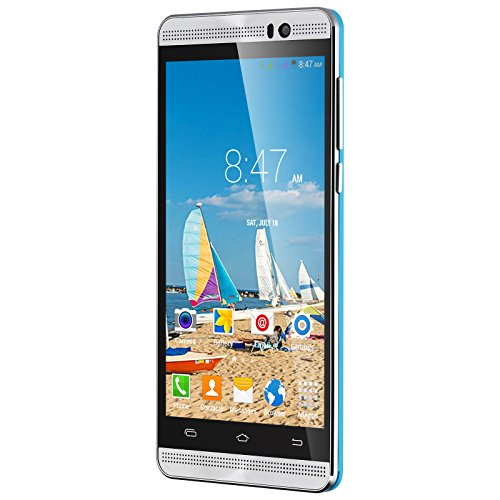 Xgody X200 Unlocked 5 inch Smartphone Android 5.1 Dual SIM card Dual Standby MTK 6580 (Blue) (Celular Android Quad Core compare prices)