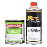 Boss 302 Yellow Low VOC URETHANE BASECOAT/CLEARCOAT Auto Car Paint Quart KIT