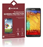 SAMAR® - Supreme Quality New Samsung Galaxy Note 3 Crystal Clear Screen Protectors (Released 2013) 6 in Pack - Includes Microfiber Cleaning Cloth