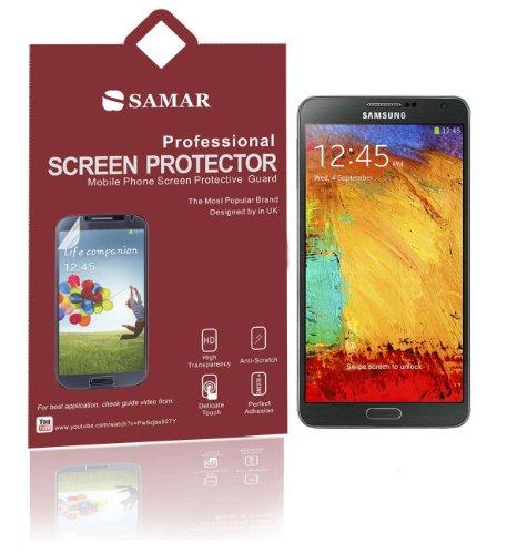 Samar Displayschutz für Samsung Galaxy Note 3, inkl. Mikrofaser-Reinigungstuch, 6er-Pack Ultra Crystal Clear