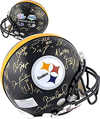 Pittsburgh Steelers Super Bowl XL and XLIII Signed Helmet - Fanatics Authentic Certified - Autographed NFL Helmets