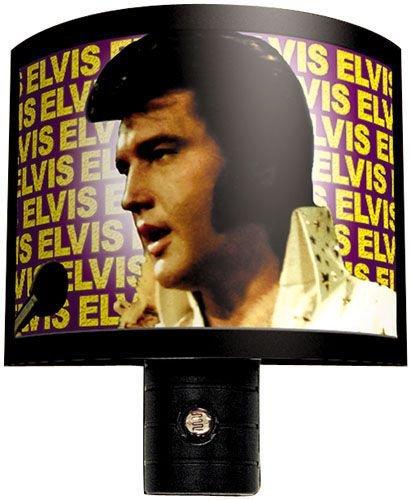 Elvis Up-Close Night Light ~ With Built-In Light Sensor front-83307