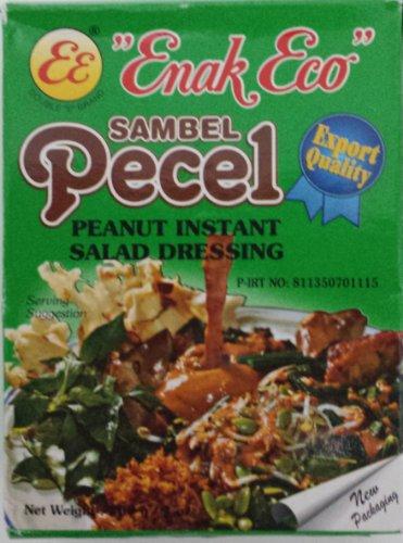 Enak Eco Sambel Pecel peanut instant salad dressing 4 Pack x ea 200gr (Mild Peanut Sauce compare prices)