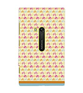 PrintDhaba Cycle Pattern D-1476 Back Case Cover for NOKIA LUMIA 920 (Multi-Coloured)