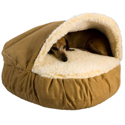 brand new pet bed luxury cozy cave camel large dog cat