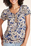Pure Cotton Floral Print Smocked Top [T41-2666D-S]