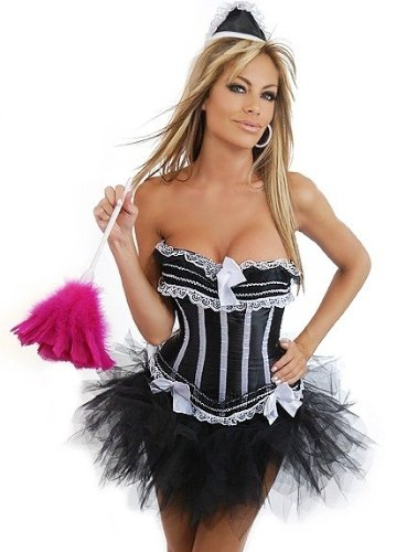 Daisy Corsets 3 PC Sexy French Maid Costume