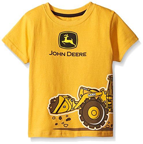 John Deere Little Boys 39 Construction Wrap T Shirt Yellow