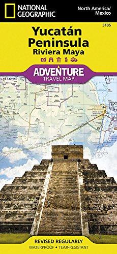 yucatan peninsula riviera maya mexico national geographic adventure map malaysia