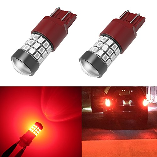Alla Lighting 39-SMD High Power 2835 Chipsets Xtremely Super Bright 7443 7440 T20 Red LED Bulbs for Brake Tail Light (Led Bulbs 7443 compare prices)