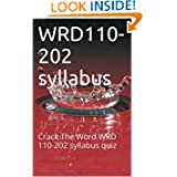 WRD110-202 syllabus: Crack The Word WRD 110-202 syllabus quiz