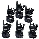 Retevis RT-B6 UHF 400-480MHz+VHF 136-174MHz 99CH DCS/CTCSS DTMF FM Ham Transceiver Hand Held Ham Amateur 2 Way Radio Walkie Talkie Black 6 Pack