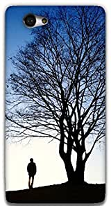 The Racoon Lean beauty of nature hard plastic printed back case / cover for Sony Xperia M2