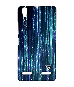 Vogueshell Glowing Lights Printed Symmetry PRO Series Hard Back Case for Lenovo A6000
