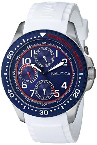 Nautica-Mens-N13683G-NSR-200-Analog-Display-Quartz-White-Watch