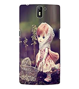Fuson 3D Printed CuteDoll Designer Back Case Cover for OnePlus One - D729