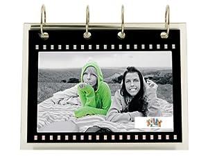 Present Time Photo Frame Film Strip Flipover Acrylic, 4 by 6-Inch