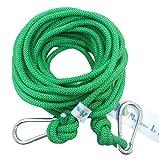 (モデルノ ラ テール) Moderno La Terre 選べる タイプ オリジナル クライミング ロープ カラビナ 二個 付き SN-TR (ナチュラルグリーン 10m)