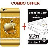 Oppo F1s Apple Logo Back Cover Combo Offer Shopping Monk Premium Quality 3D Printed Lightweight Slim Matte Finish...