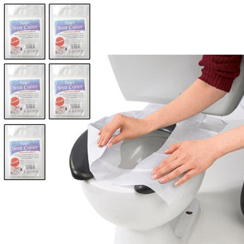 50 Hygienic Toilet Paper Seat Covers Disposable Protector Travel Work Train New front-817837