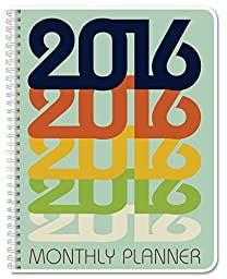 BookFactory® 2016 - 2 Pages per Month Calendar (44 Pages - 8.5\