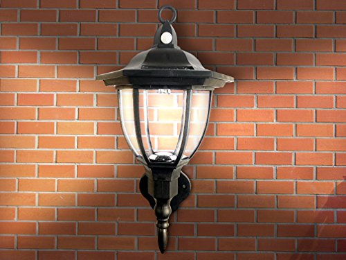 Solar Powered Wall Lamp Motion Activated Security Lights