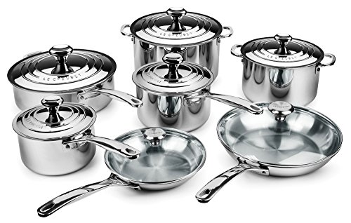 Le Creuset 14-piece Stainless Steel Cookware Set (Le Creuset Set Of Cookware compare prices)