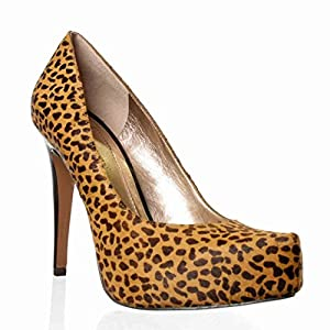 BCBG Womens Parade2 Brown Haircalf leather Pump 7.5 (womens_us)