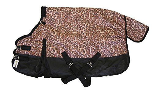 "600D Medium Weight Horse Pony Blanket Water Proof Cheetah Print, 56"" front-777577"