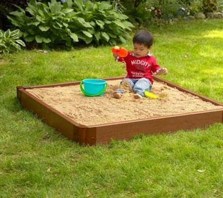 Frame It All Square Sandbox with Canopy