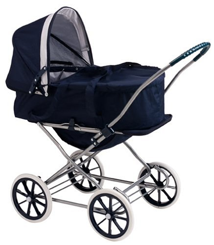 Buy Badger Basket English Style 3-in-1 Doll Pram Carrier And Stroller - Navy/White