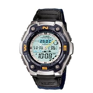 Casio #AQW101B-2AV Men's Sports Gear Thermometer/Fishing Indicator Watch