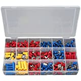 SOLOOP 300Pcs Mixed Assorted Crimp Terminal Sleeve Kit Insulated Wires Connectors Set