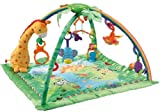 Quilted Fisher-Price Rainforest Melodies And Lights Comfortable, Colorful Design Deluxe Gym