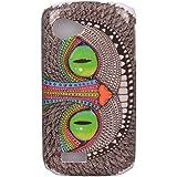 Voguecase® Rigide Plastique Shell Housse Coque Étui Case Cover Wiko Cink Slim(yeux verts)de Gratuit stylet l'écran aléatoire universelle