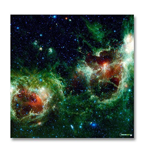 Red And Green Nebula gaming mat (3Ft X 3Ft) (X Wing Tabletop compare prices)