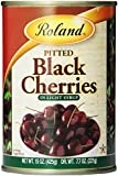 Roland Pitted Black Cherries in Light Syrup, 15-Ounce Cans (Pack of 6)