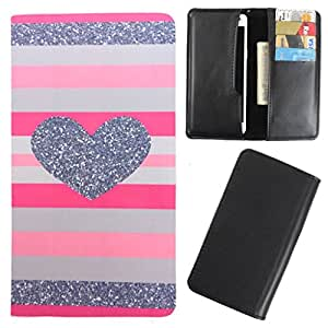DooDa - For iBall Andi Uddaan PU Leather Designer Fashionable Fancy Case Cover Pouch With Card & Cash Slots & Smooth Inner Velvet