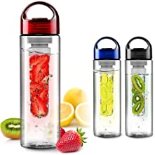 Fruit Infusing Water Bottle with Fruit Infuser | 8 colours (Red) | By Wimports