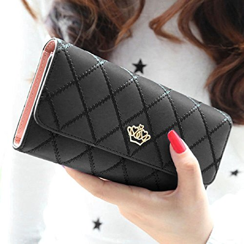 Malloom® Women Clutch Long Purse Leather Wallet